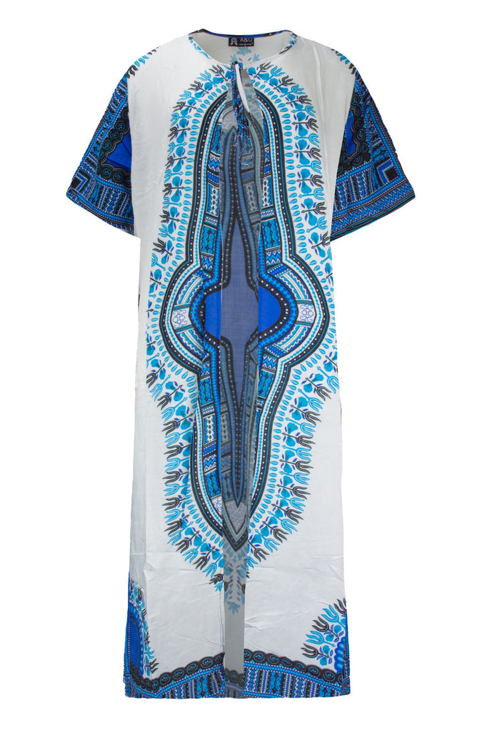 NEW Women Cardigan Dashiki Graphic Dress Long Short Sleeve ONE SIZES FITS ALL