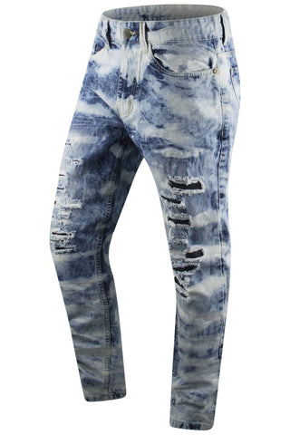 New Denim JeansDistressed Premium Slim Fit
