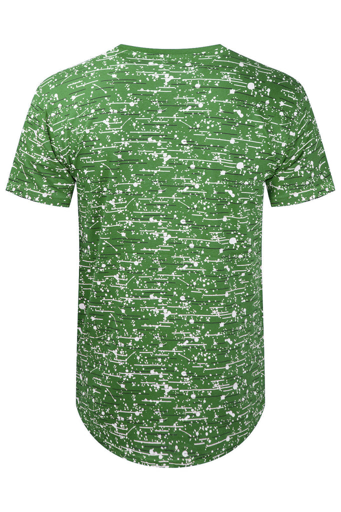 New Men Paint Splattered Legend T-Shirt