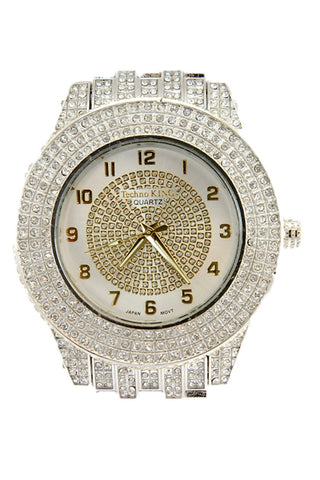 New Men Hip Hop Watch Full Stone Ice