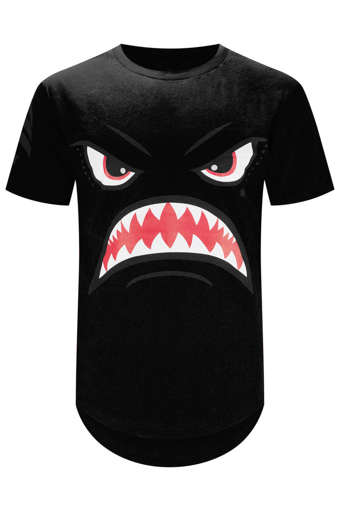 New Men Shark Mouth T-Shirt