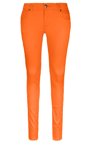 New Women Skinny Slim Pants Neon Colors Sizes 0-13 Petit Fit Zipper Pockets