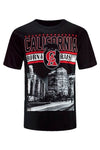 NEW Men California Born & Raised Shirt ALL SIZES Black White Cali CA LA