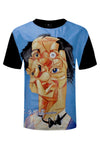 New Men Coke Boys T-Shirt Comic Print Faux Leather Polyester Shirt Size L