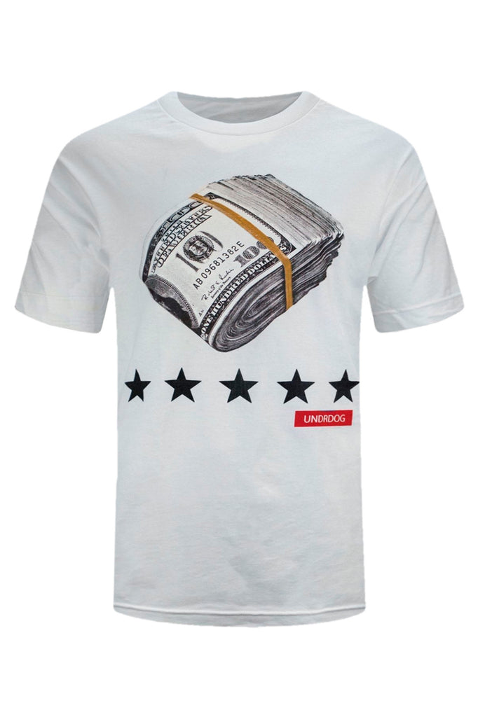 NEW Men T Shirt Cash Money $100 Dollar Bills Stacked Hip Hop Stars ALL SIZES