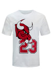 NEW Men Bulls #23 Shirt Black Red White ALL SIZES Sports Basketball