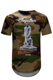 NEW Men Rise As One Shirt Statue Roman Greece Sizes S-2XL Short Sleeve Shirts