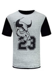 NEW Men Bulls Quilted Short Sleeve Shirt 2 Tone ALL SIZES Sports Basketball