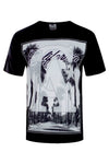 Men CA Cali Shirt Palm Trees Beach LA Music ALL SIZES Short Sleeve