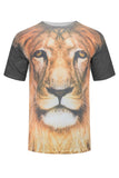 New Men Sublimation Tiger Lion Shirt Leopard Secret Shirt M-2XL Stretchy Jungle