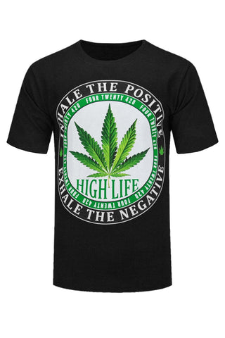 NEW Men Weed Shirt Short Sleeve Black 420 Green Bud ALL SIZES M-5XL Four Twenty