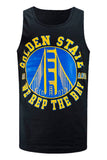 NEW Men Golden State Warriors Tank Top Basketball Sports Summer Shirt SD