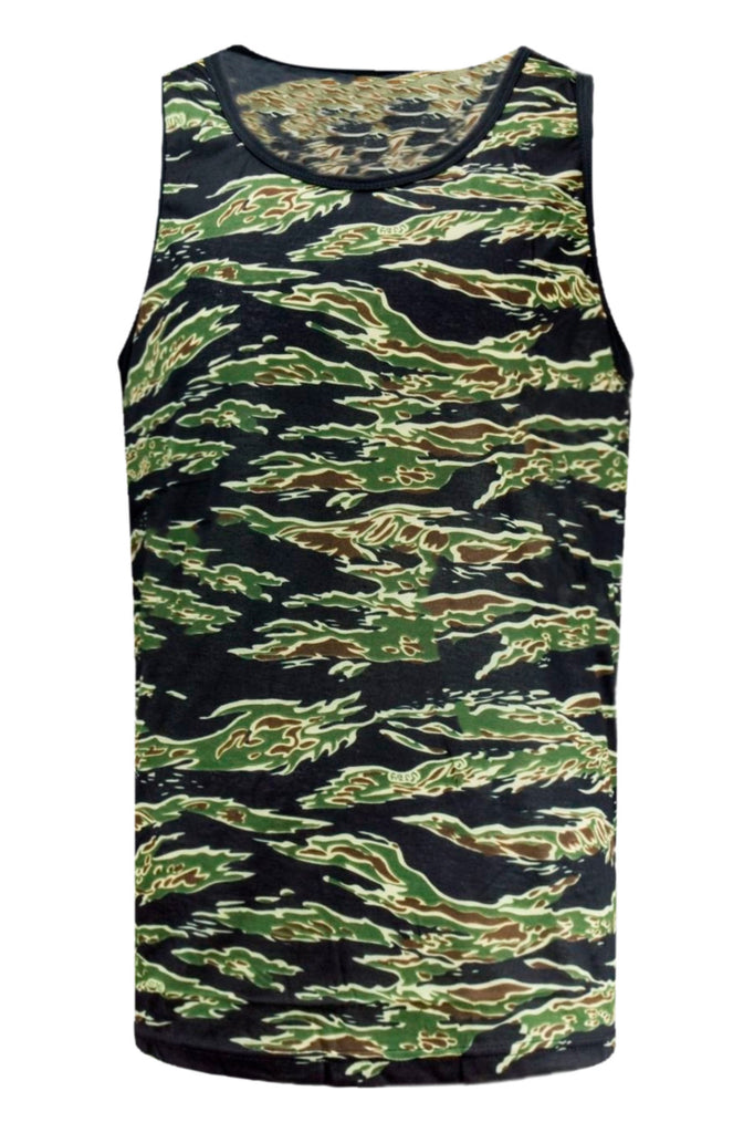 NEW Men Camo Army Green Tank Top Sizes S-2X Lightweight Material Desert Jungle