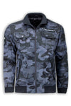 NEW Men Varsity Marksman Lettermen Jacket Army Pockets Camo M 2XL 3XL