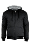 Men Plain Quilted Fleece Hoody Thermal Lined Heavy Weight 5 Colors L-3XL Jacket