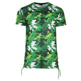 Men Camo T-shirt Shirt Red Jaw strings White Sizes M-2XL Imperious Long Length