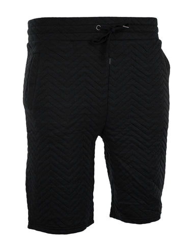 Quilted Jogger Shorts With Drawstrings