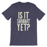 "Men's ""Is It Shabbat Yet?"" Tee With Oatmeal Graphic"