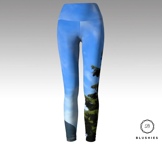 Beautiful Mountain Tree Legging