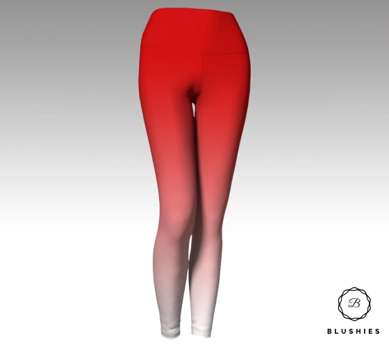 Attractive Red Ombre Legging