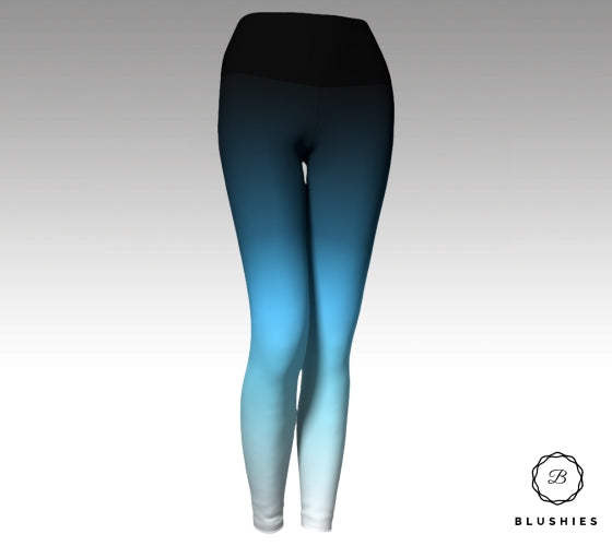 Majestic Dark Blue Ombre Legging