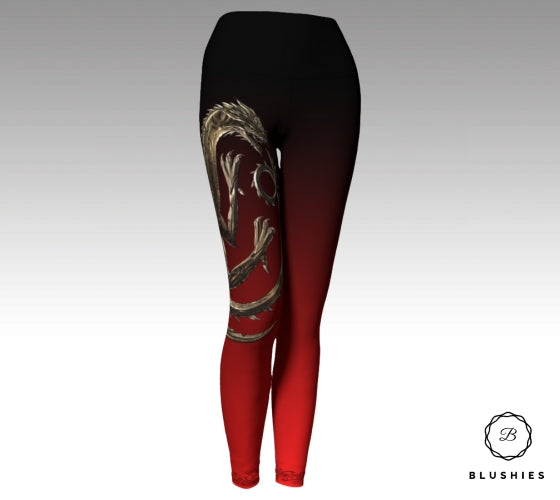 House Targaryen Inspired Red Legging