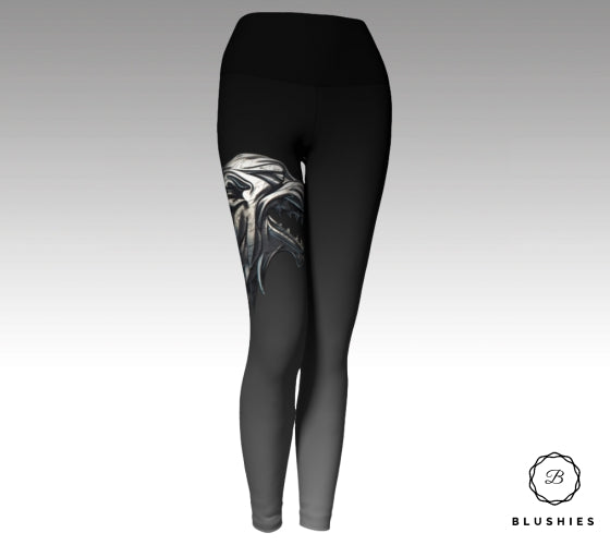 House Stark Inspired Black & White Legging