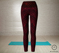 Dragon Scale Inspired Red Legging