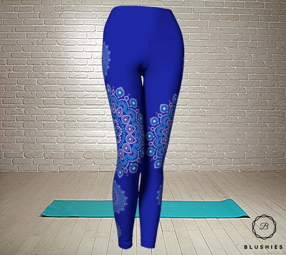Blue Printed Bandana Legging