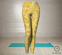 Yellow Printed Bandana Legging