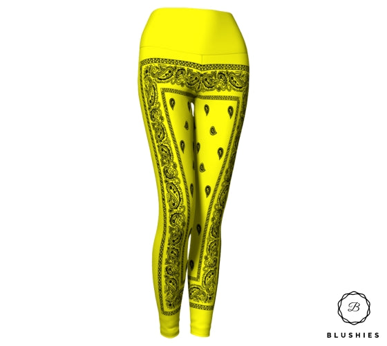 Bandana Bordered Style Yellow Legging