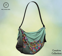 Tapestry Multi-Colored Flower Printed Origami Tote Bag