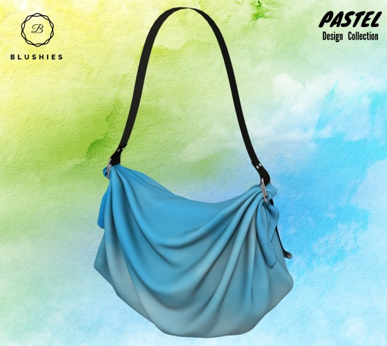 Bubbly Blue Pastel Design Origami Tote Bag