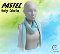 Mint Green Pastel Design Long Scarf