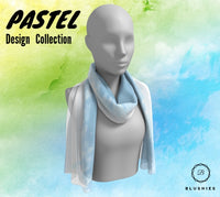 Sky Blue Pastel Design Long Scarf