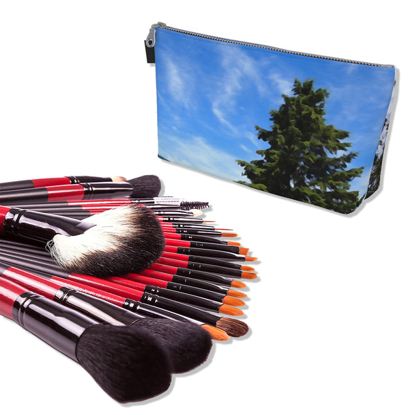 Makeup Bag And Premium 22 Makeup Brushes Kit Bundle Set D