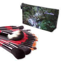 Makeup Bag And Premium 22 Makeup Brushes Kit Bundle Set B