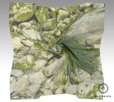 Green Nature Printed Scarf for Women