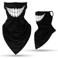 Skull Face Mask Shield Hanging Ear Breathable Quick-Dry
