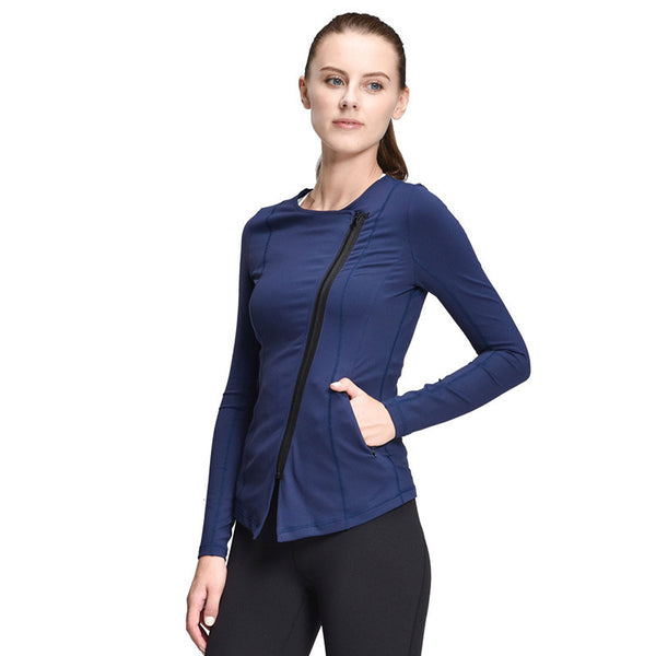 Yoga Diagonal Zipper Jacket