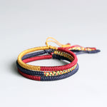 Multi Color Tibetan Buddhist Braided Knot Lucky Rope Bracelet- Set of 3