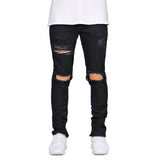Destroyed men´s jeans, black - voguestreetwear.com