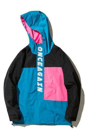 Retro Windbreaker WAVY in Color Block