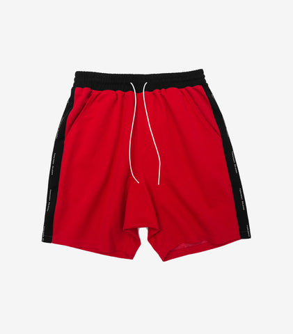 Forbidden Colours Sweat Shorts Red / Black