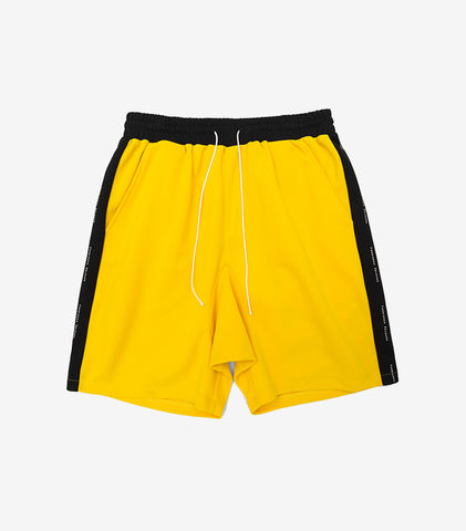 forbidden colours men shorts, yellow-black sold by VogueStreetwear.com