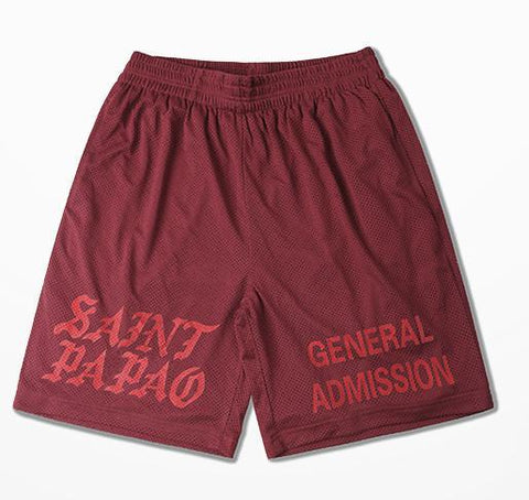 I Feel Like Pablo Shorts, red - voguestreetwear.com