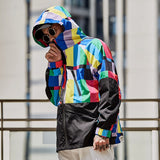 Colorful Hooded Windbreaker