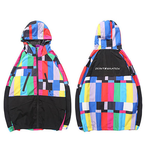 Colorful Hooded Windbreaker - voguestreetwear.com