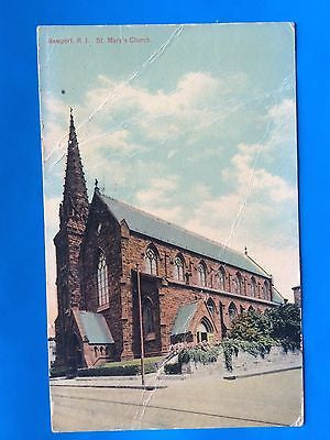 RI, Newport - St Mary's Church postcard - H15069