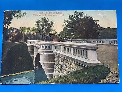 RI, Providence - Roger William Park, Bridge postcard - H15064